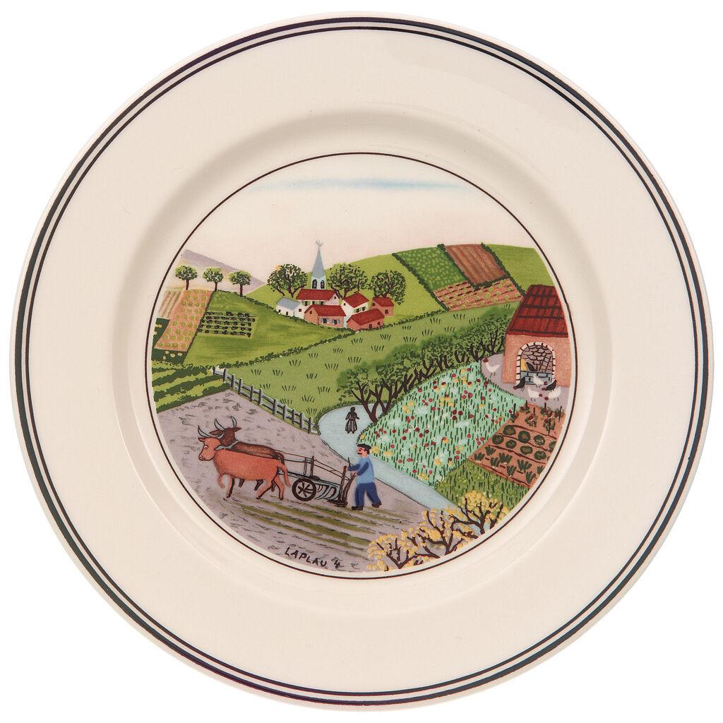 빌레로이 앤 보흐 디자인 나이프 디저트 그릇 Villeroy&Boch Design Naif Appetizer/Dessert Plate #4 - Plowing 6 3/4 in