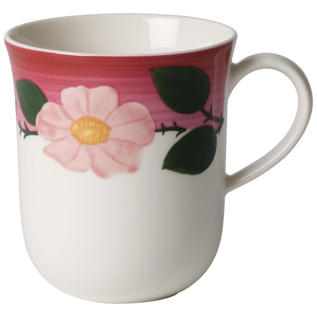 빌레로이 앤 보흐 로즈 소바쥬 머그 Villeroy & Boch Rose Sauvage Framboise Mug 12 oz