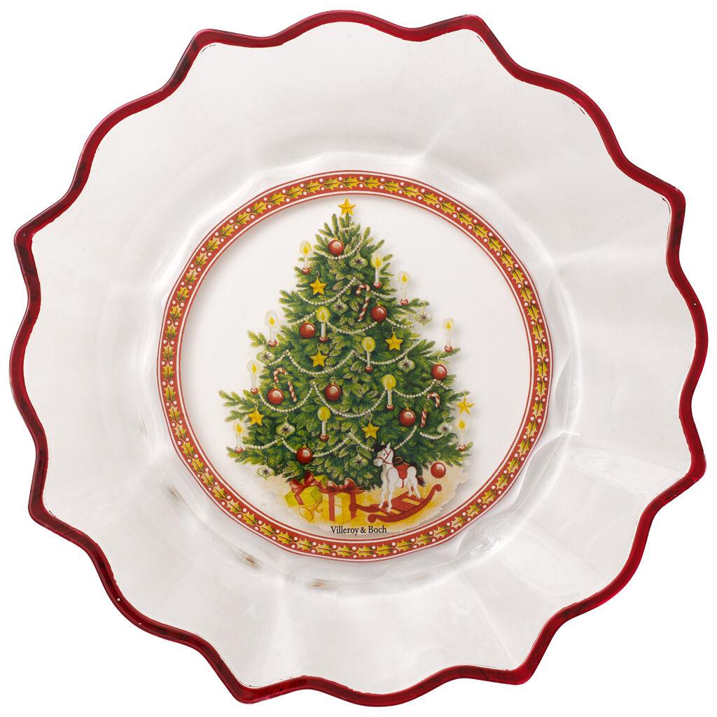 빌레로이 앤 보흐 트리 접시 Villeroy & Boch Christmas Glass Accessories Bowl clear : Christmas Tree