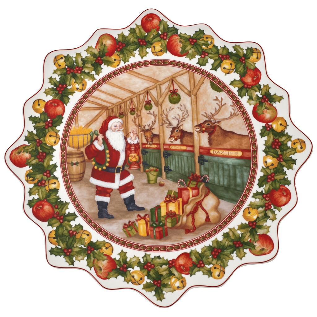 빌레로이 앤 보흐 토이즈 판타지 패스트리 접시 라지 Villeroy & Boch Toys Fantasy Large Pastry Plate : Santas Stable 16.5 in