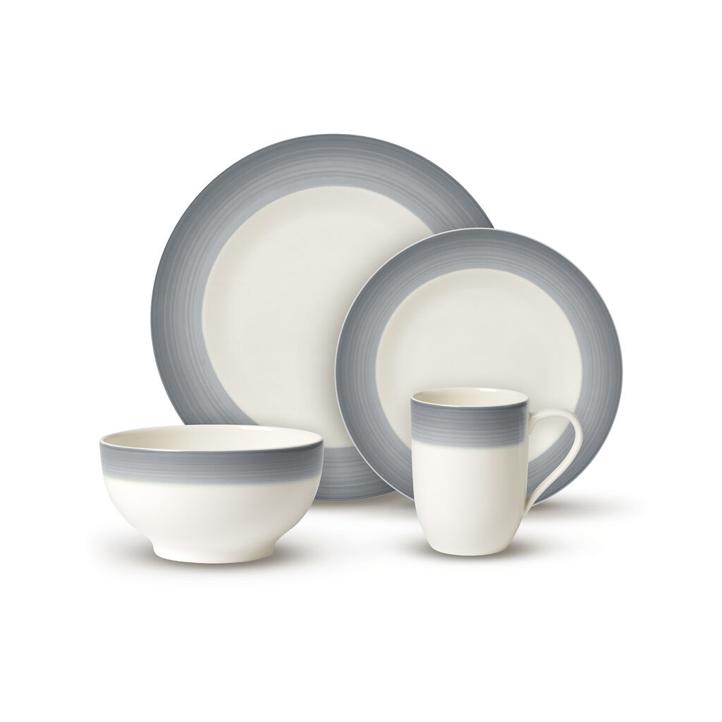 빌레로이 앤 보흐 8피스 그릇세트 Villeroy & Boch Colorful Life Cosy Grey 8 Piece Dinner Set for 2