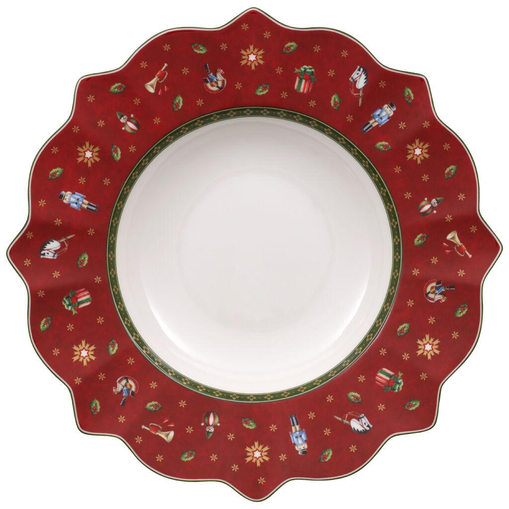 빌레로이 앤 보흐 토이즈 딜라이트 스프 보울 Villeroy & Boch Toys Delight Rim Soup, Red 10 1/4 in