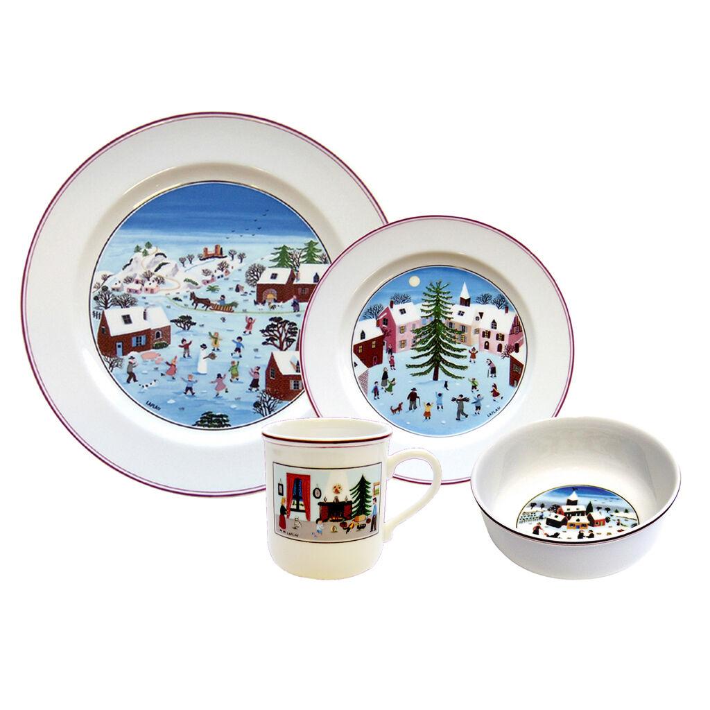 빌레로이 앤 보흐 '디자인 나이프 크리스마스' 4피스 디너웨어 세트 Villeroy&Boch Design Naif Christmas 4 Piece Dinnerware Set