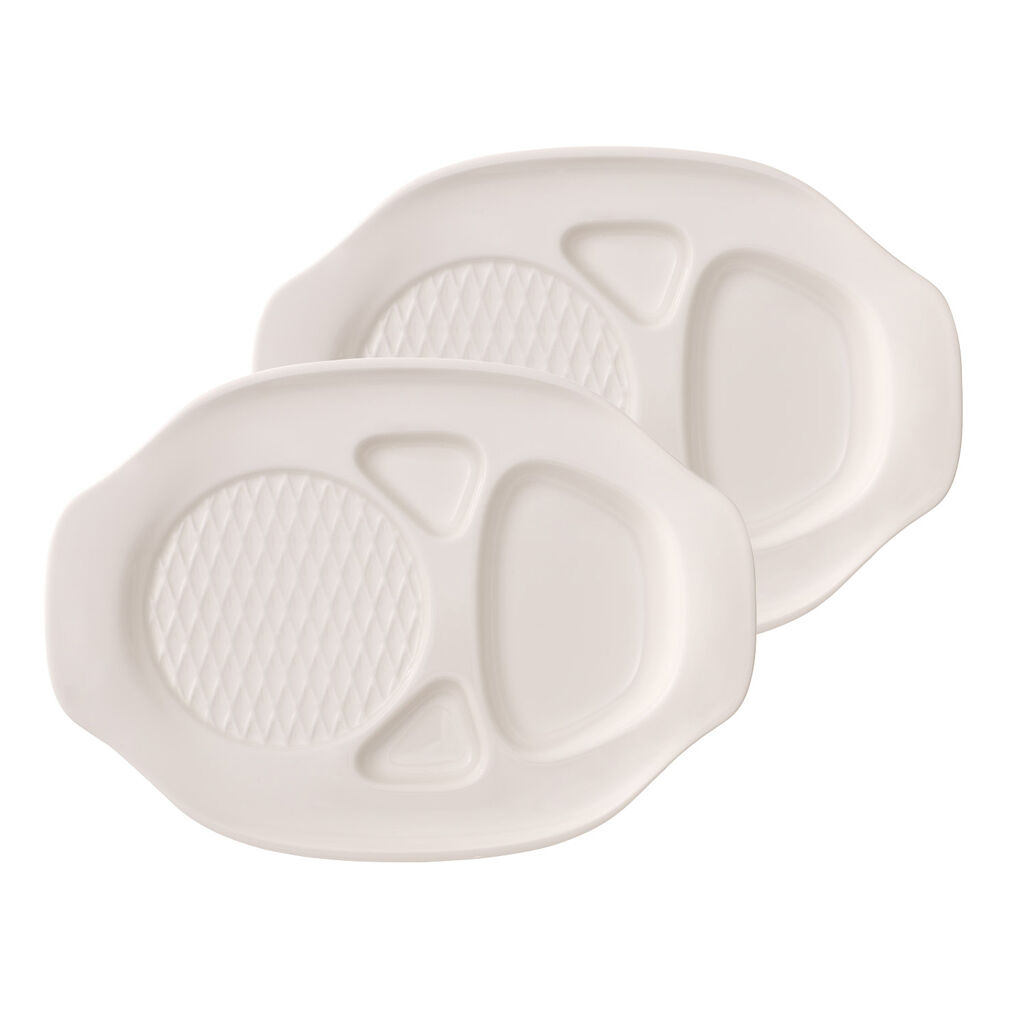 빌레로이 앤 보흐 햄버거 그릇 Villeroy & Boch BBQ Passion Burger Plate : Set of 2