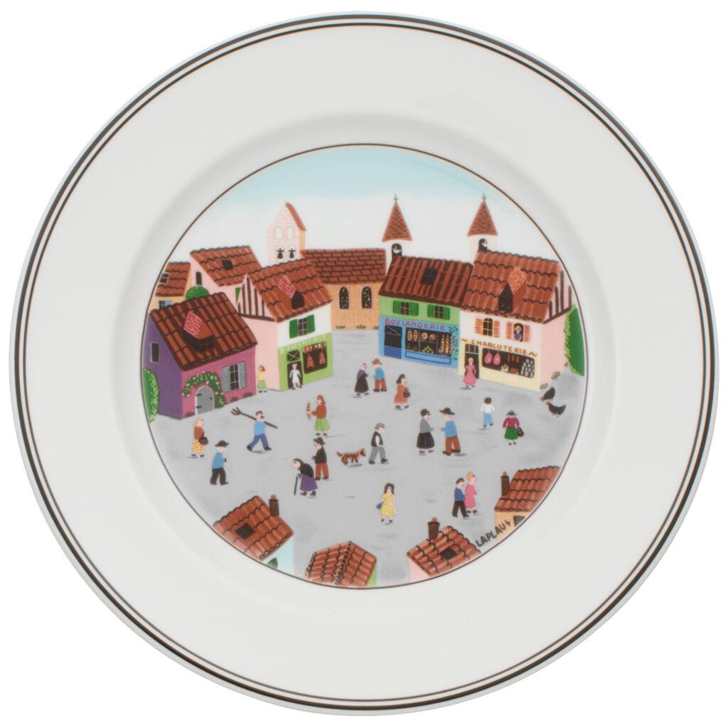 빌레로이 앤 보흐 디자인 나이프 그릇 Villeroy&Boch Design Naif Dinner Plate #4 - Old Village Square 10 1/2 in