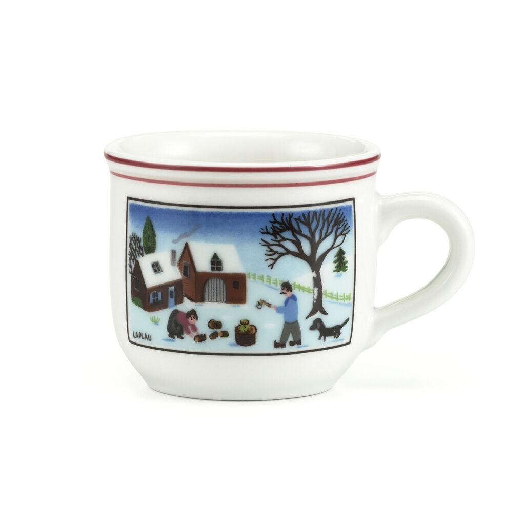 빌레로이 앤 보흐 '디자인 나이프 크리스마스' 에스프레소 컵 (100ml) Villeroy&Boch Design Naif Christmas Espresso Cup, 3.25 Ounces