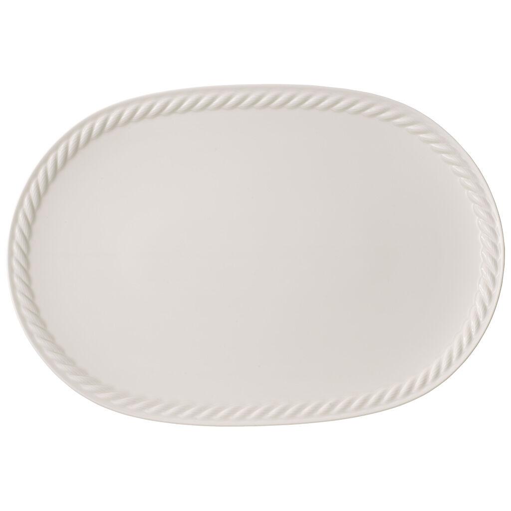 빌레로이 앤 보흐 몬탁 오발 접시 Villeroy & Boch Montauk Oval Platter 17x12 in