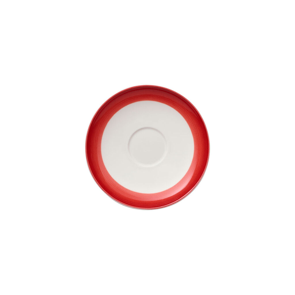 빌레로이 앤 보흐 컬러풀 라이프 딥 레드 에스프레소 잔 받침대 Villeroy & Boch Colorful Life Deep Red Espresso Cup Saucer 4 3/4 in