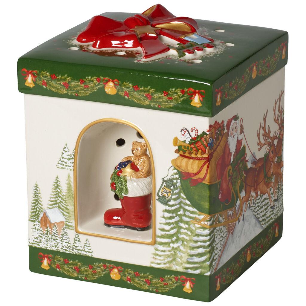 빌레로이 앤 보흐 산타 기프트박스 Villeroy & Boch Christmas Toys Large Square Gift Box : Santa Claus 6.25x8 in