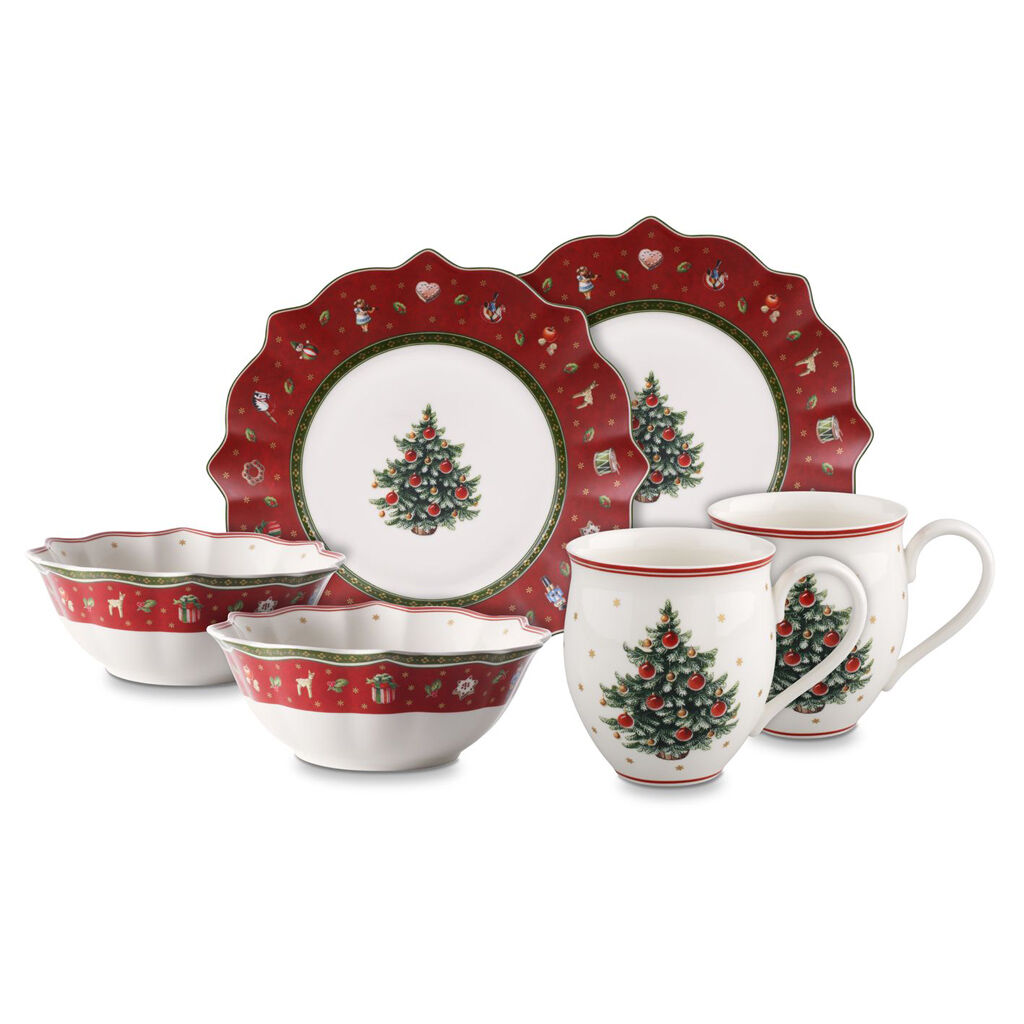 빌레로이 앤 보흐 토이즈 딜라이트 2인용 세트 6피스  Villeroy & Boch Toys Delight Breakfast for 2 red, set 6pcs