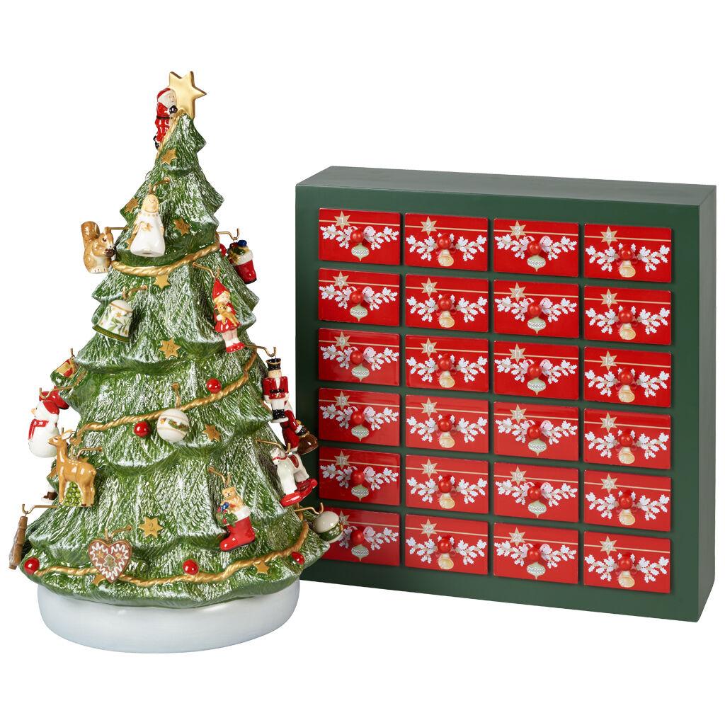 빌레로이 앤 보흐 장식품 Villeroy & Boch Christmas Toys Memories Advent Calendar 3D Tree 9.5x12.5x17 in