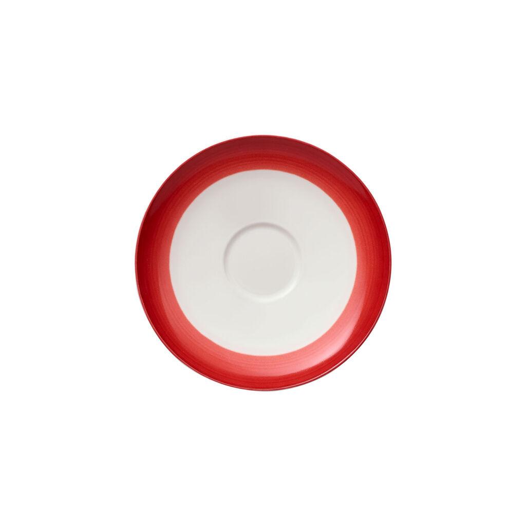 빌레로이 앤 보흐 컬러풀 라이프 딥 레드 커피잔 받침대 Villeroy & Boch Colorful Life Deep Red Coffee Cup Saucer 5 1/2 in