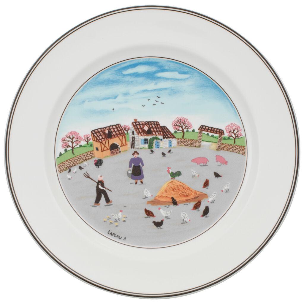 빌레로이 앤 보흐 디자인 나이프 그릇 Villeroy&Boch Design Naif Dinner Plate #3 - Country Yard 10 1/2 in