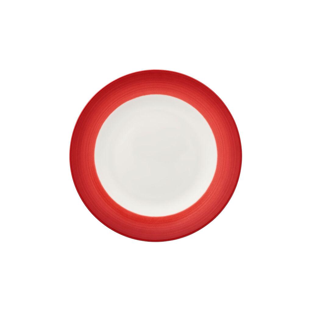 빌레로이 앤 보흐 컬러풀 라이프 딥 레드 샐러드 플레이트 Villeroy & Boch Colorful Life Deep Red Salad Plate 8 1/2 in