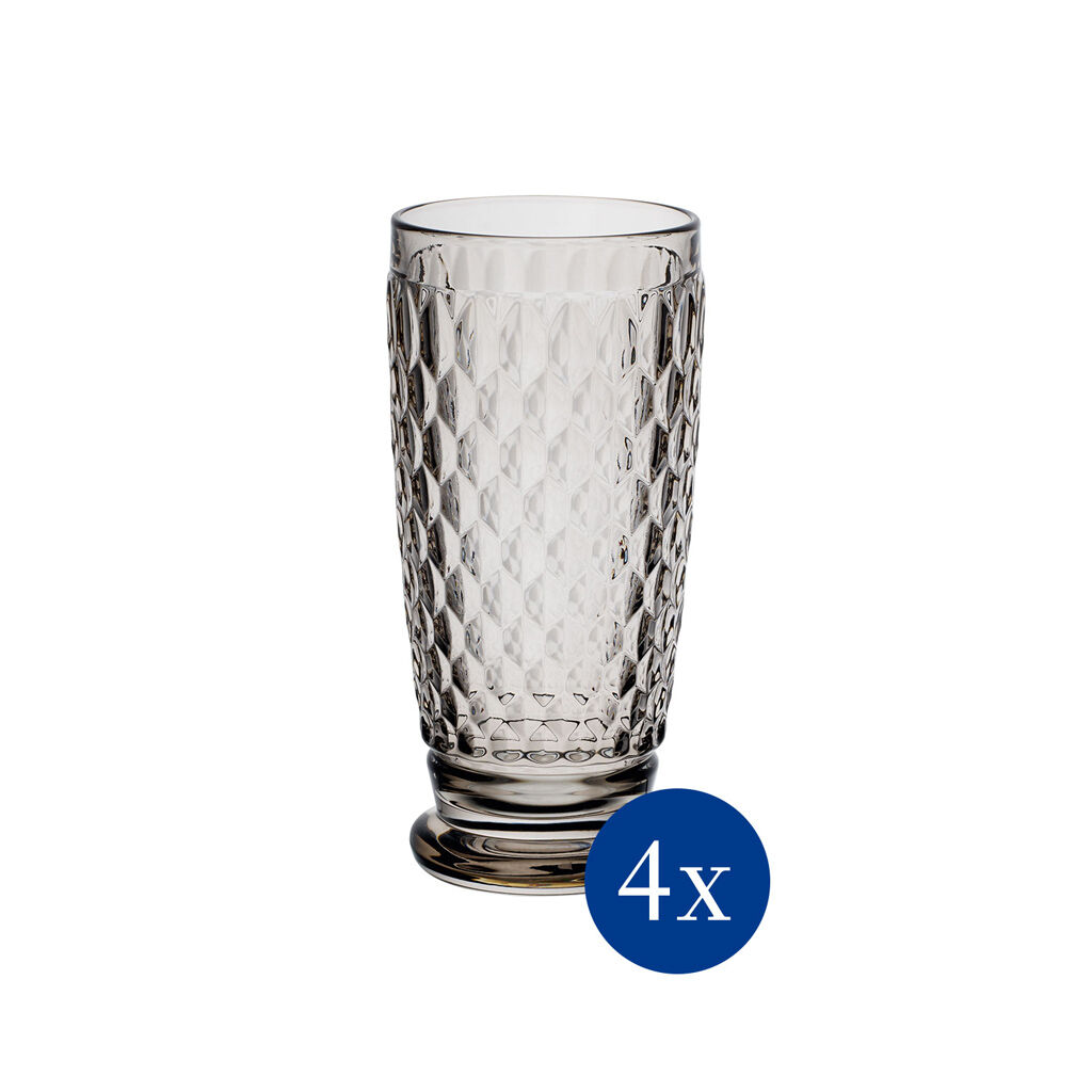 빌레로이 앤 보흐 보스턴 하이볼 Villeroy & Boch Boston Colored Highball-Smoke : Set of 4 13.5 oz