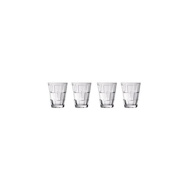 Dressed Up Crystal Glass Tumblers - Quad : Set of 4, , large