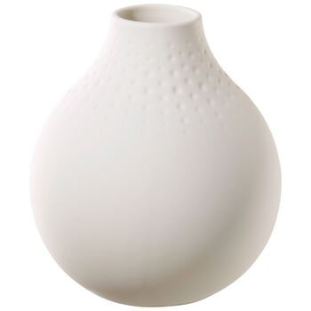 Manufacture Collier blanc Small Vase : Perle 4.25 in