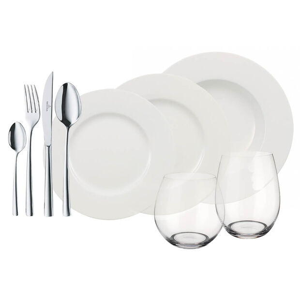 Wonderful World of White Complete Dinner Set, 36 Piece Service for 4, , large