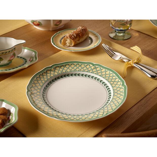 French Garden Orange Dinner Plate 10 1/4 in, , large