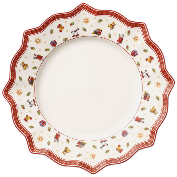 Toy's Delight Dinner Plate, White 11 1/2 in, , large