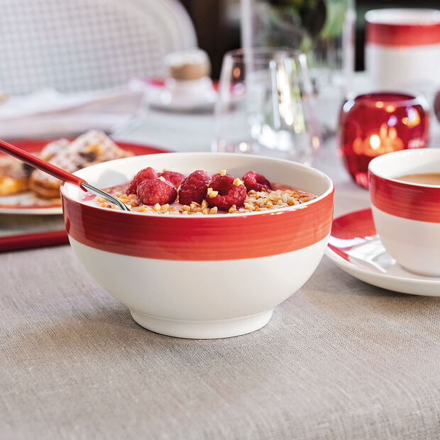 Colorful Life Deep Red French Rice Bowl 25 oz, , large