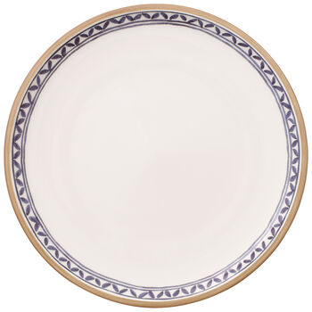 Artesano Provencal Lavender Dinner Plate : White Well 10.5 in