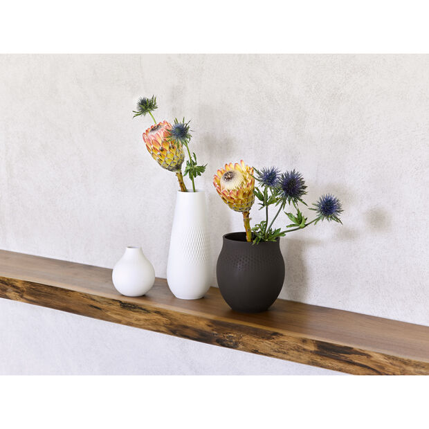Collier Blanc Tall Vase : Carre 4.5 in, , large