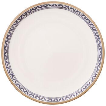 Artesano Provencal Lavender Dinner Plate : White Well 10.5 in