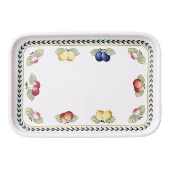 French Garden Baking Rectangular Serving Plate/Lid 12.5x8.5in