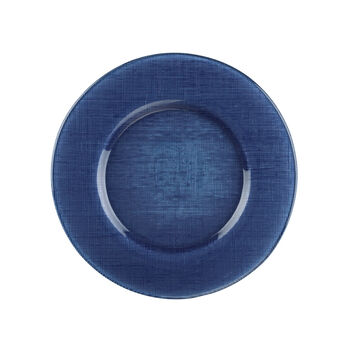 Verona Glass Charger, Deep Blue