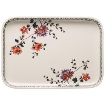 Artesano Provencal Verdure Baking Dishes Rectangular Serving Plate/Lid 14 in
