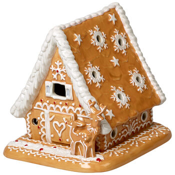 Winter Bakery Decoration Gingerbread House 6x5x5.5 in