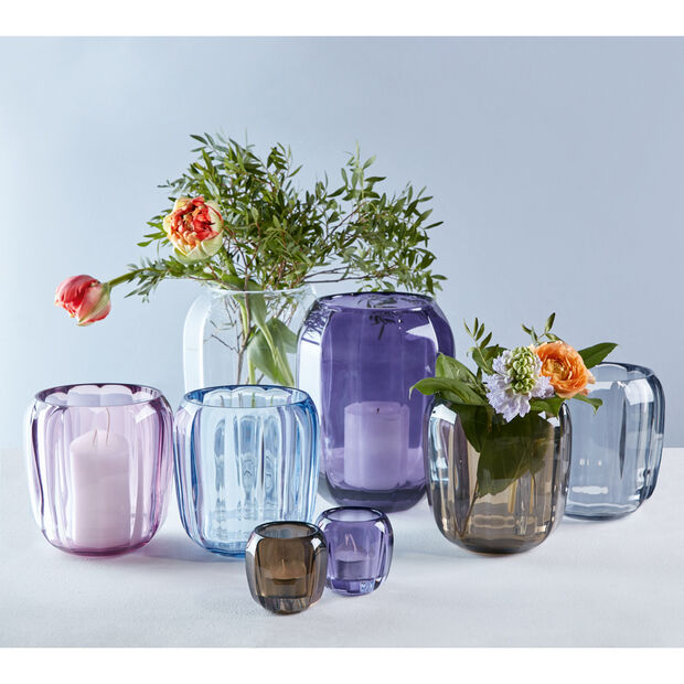 Coloured DeLight Hurricane Lamp/Large Vase : Gentle Lilac 7 in, , large