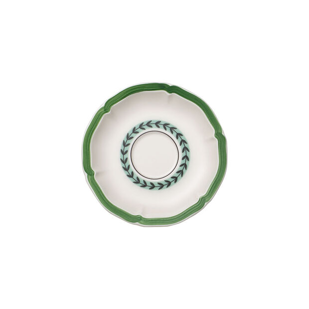 French Garden Green Line Breakfast Cup Saucer 6.5 in, , large