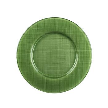 Verona Glass Charger, Green
