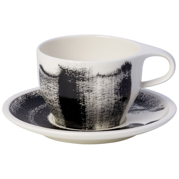Coffee Passion Awake Cafe Au Lait Cup & Saucer Set 11.75 oz, , large