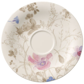 Mariefleur Grey Breakfast Cup Saucer 7 1/2 in