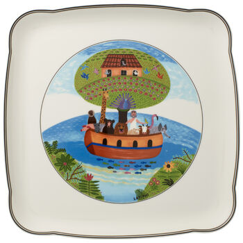 Charm & Breakfast Design Naif Square Platter 11 3/4 in