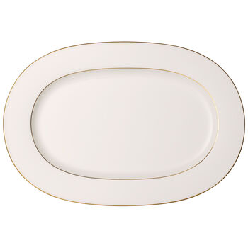 Anmut Gold Oval Platter 16 in