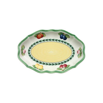 French Garden Fleurence Pickle Dish/Gravy Stand 9 1/2 in