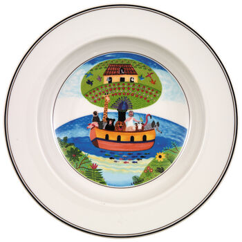 Design Naif Soup Bowl #2 - Noah's Ark 8 1/4 in