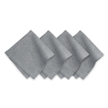 Elrene La Classica Napkin:Set of 4 Silver 21 x 21 in