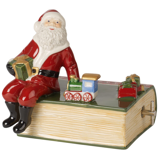 Nostalgic Melody Santa with Book, , large