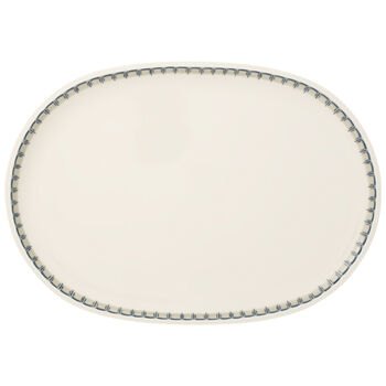 Casale Blu Oval Fish Plate 17 x 12 in