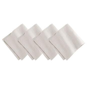 Elrene La Classica Napkin:Set of 4 Dove Grey 21 x 21 in