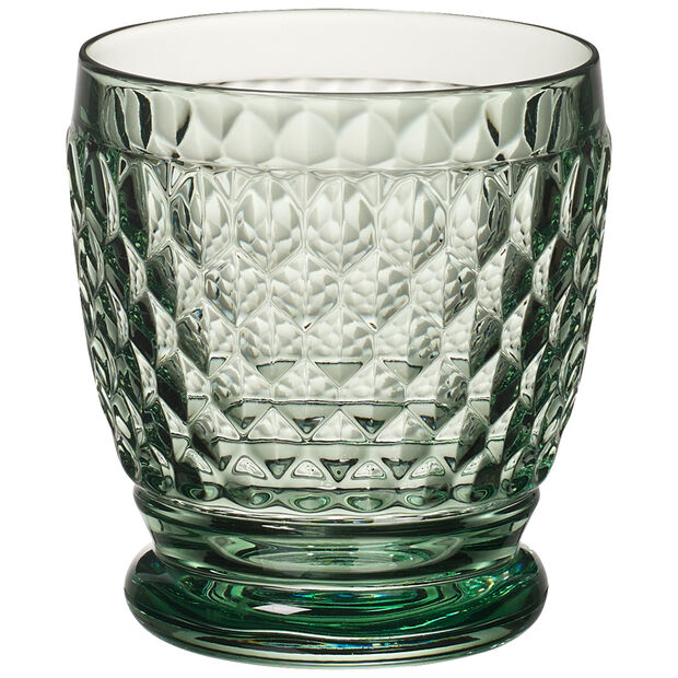 Boston Colored Double Old-Fashioned Glass, Green, , large