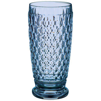 Boston Colored Highball Glass, Blue 6 1/4 in