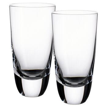 American Bar - Straight Bourbon Highball Glasses, Set of 2 6 in