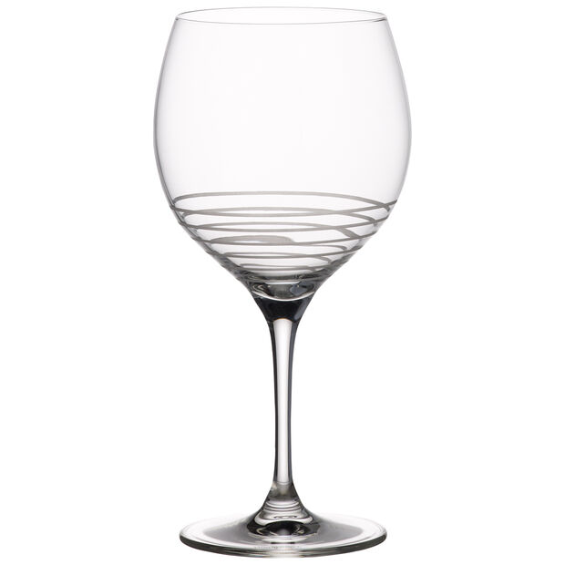 Maxima Decorated Burgundy Spiral Goblet 8 3/4 in, , large