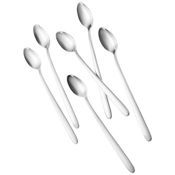 Daily Line Cocktail Spoons, Set of 6 7 3/4 in